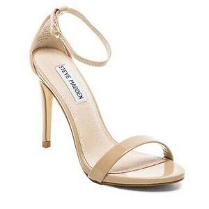 Steve Madden Stecy Dress Sandal, Nude Patent